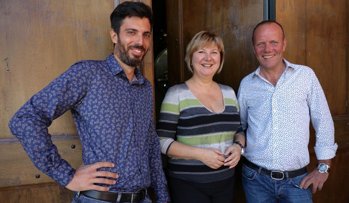 Alessandro with Daniela and Mauro Veglio